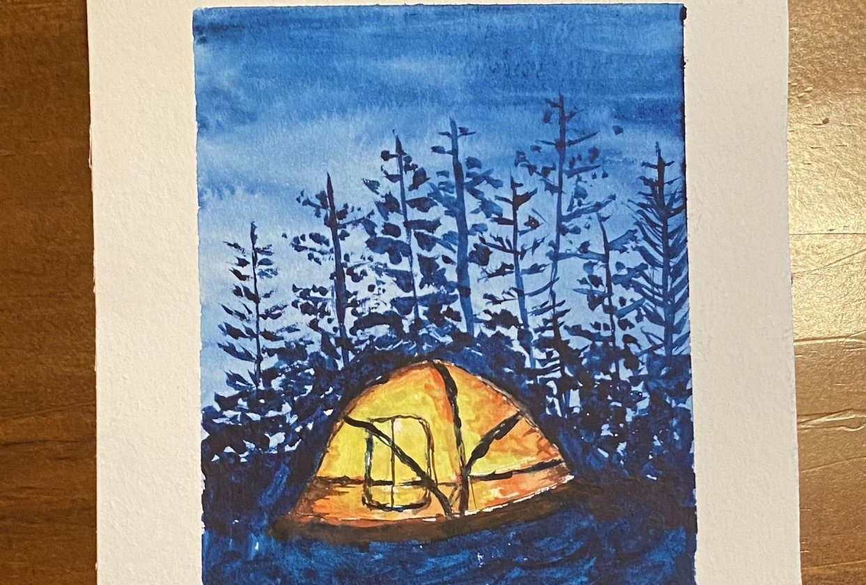 Camping under the stars - student project