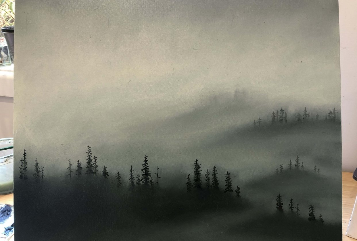 Misty Forest Scene - student project