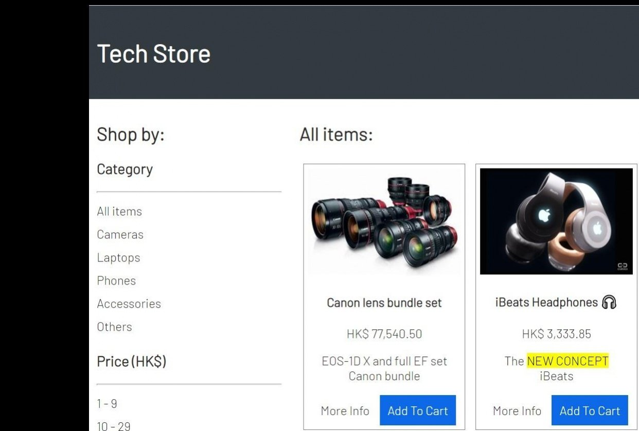 Tech Store UI - student project