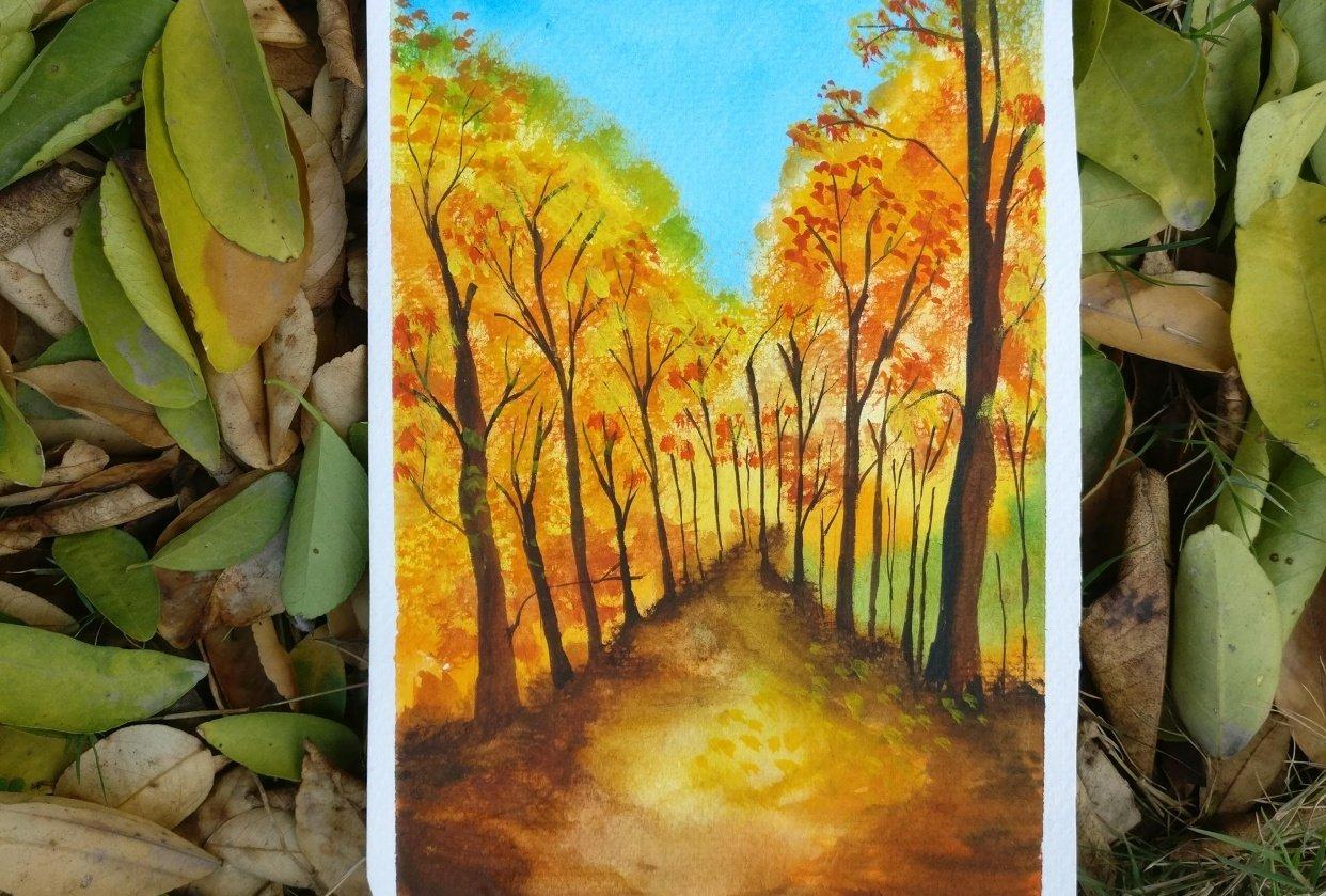 Autumn landscape - student project
