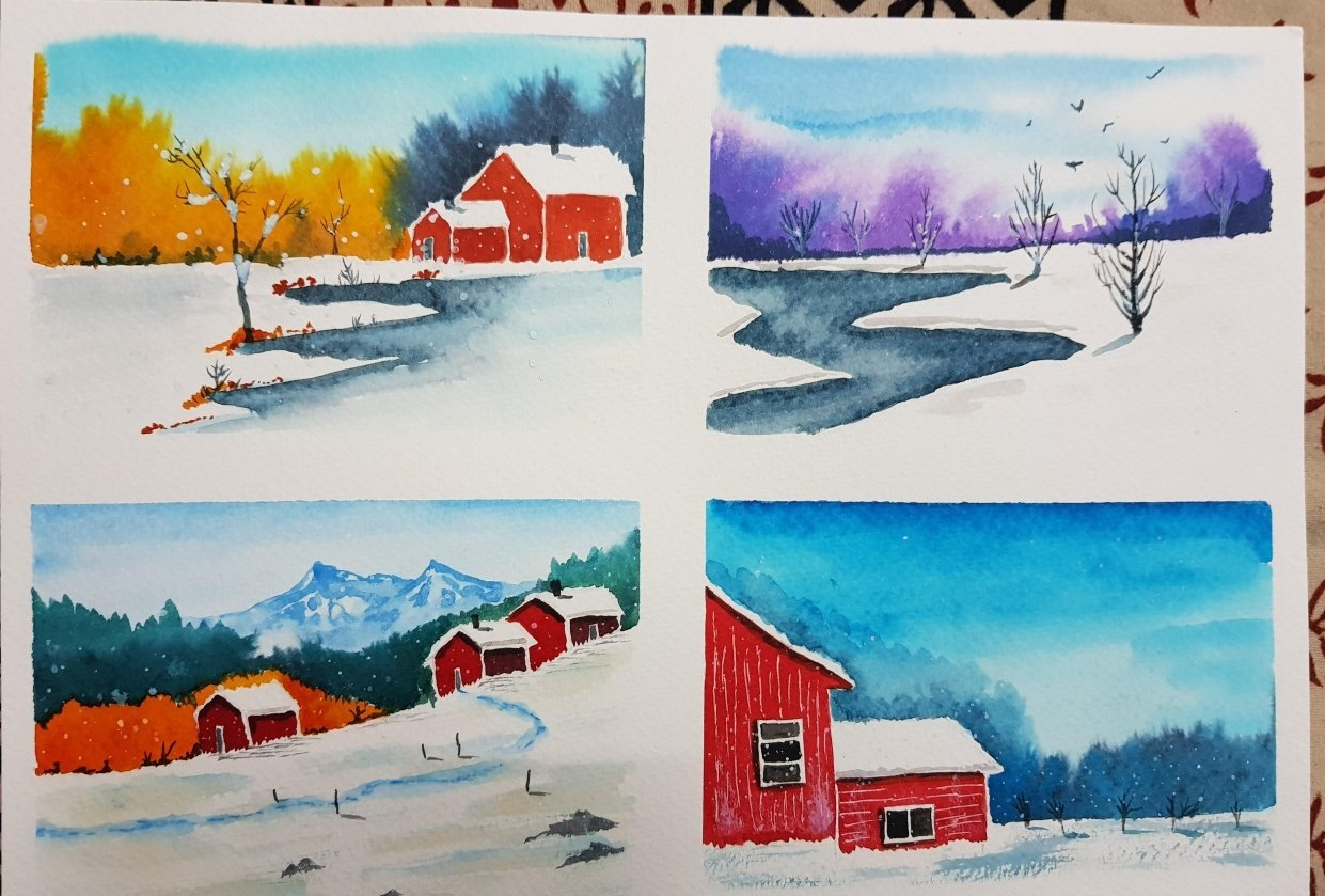 Wonderful winter landscapes - student project