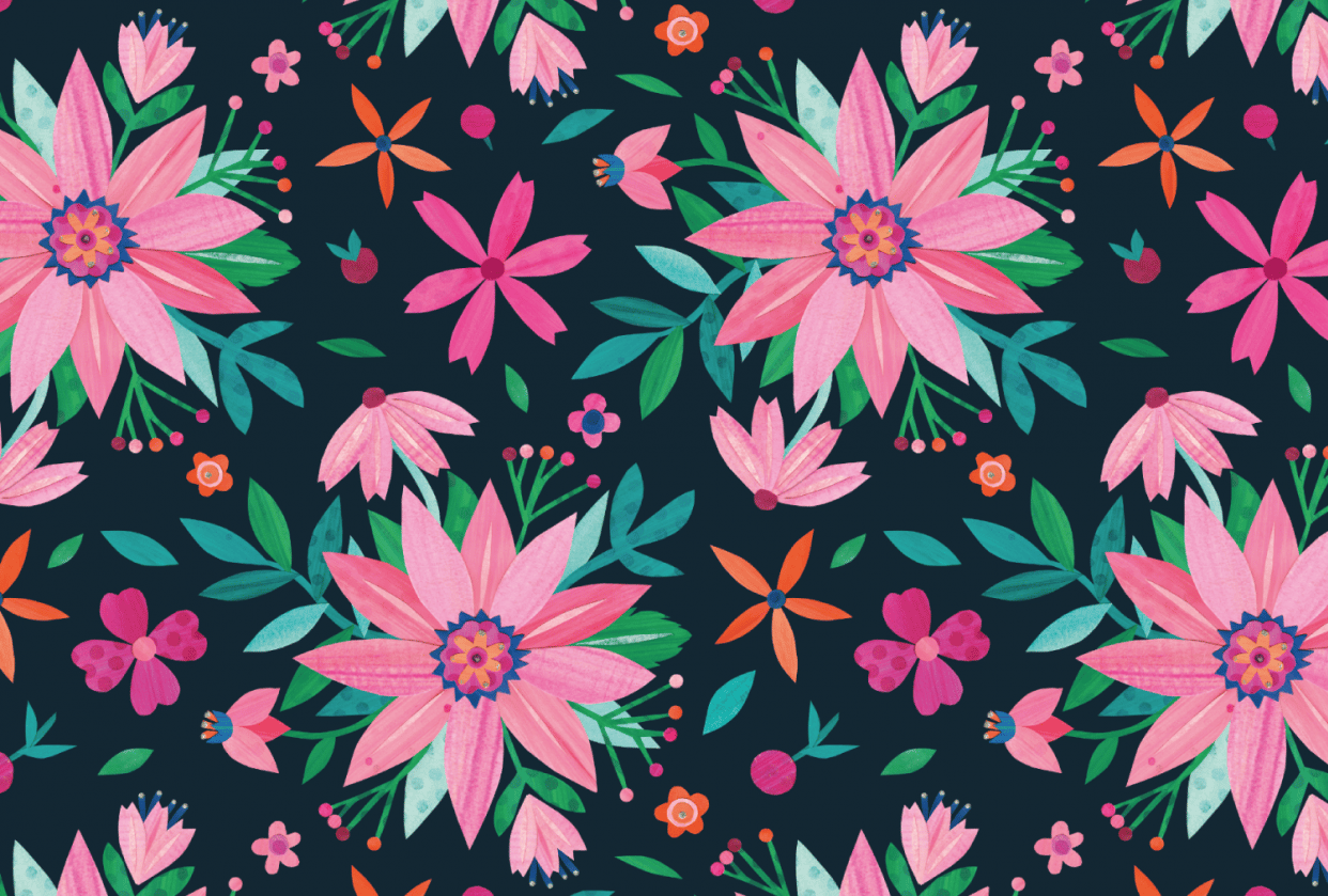 Pink Flower Collage (example project) - student project