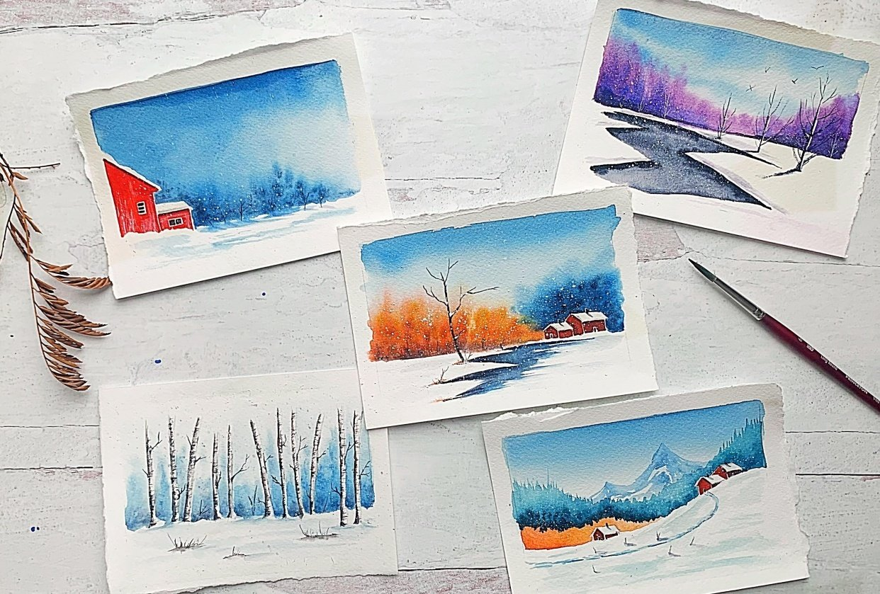 Winter landscapes, so dreamy! - student project