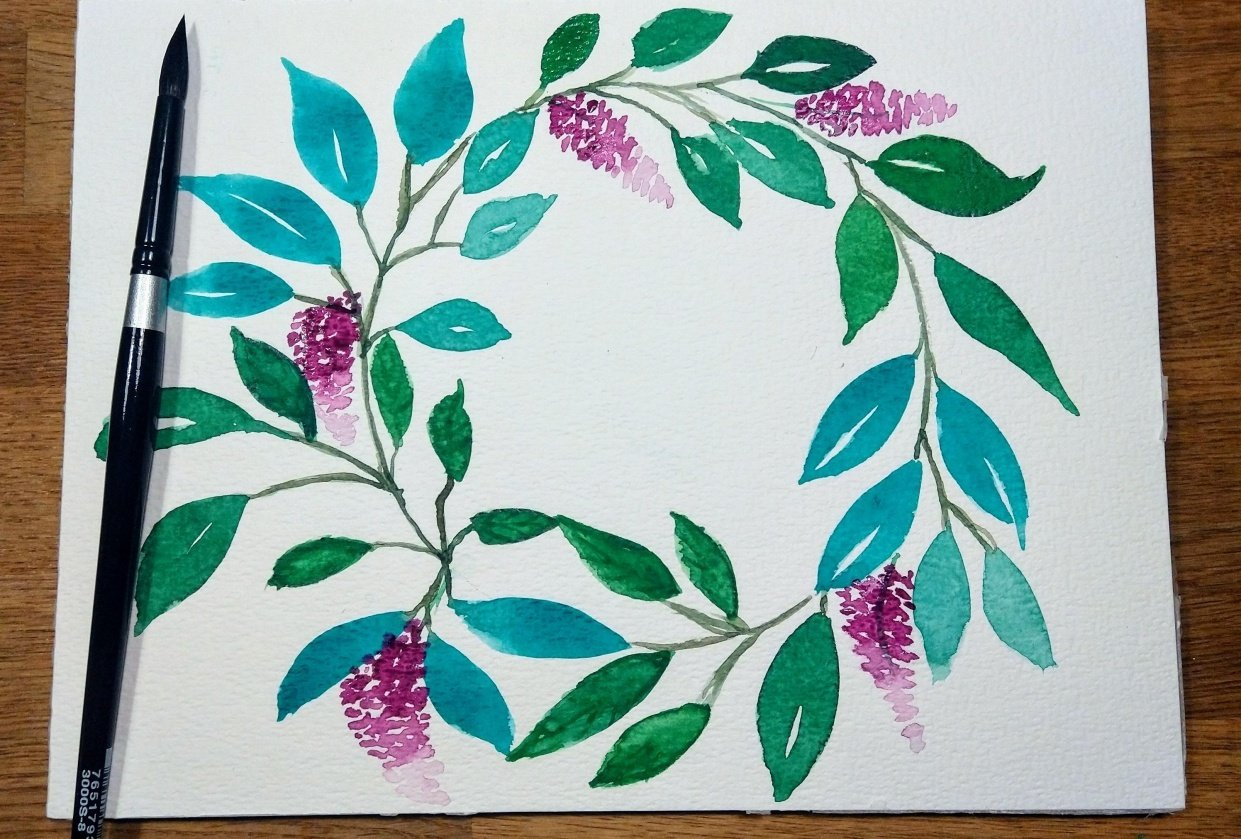 Leaves and flowers - student project