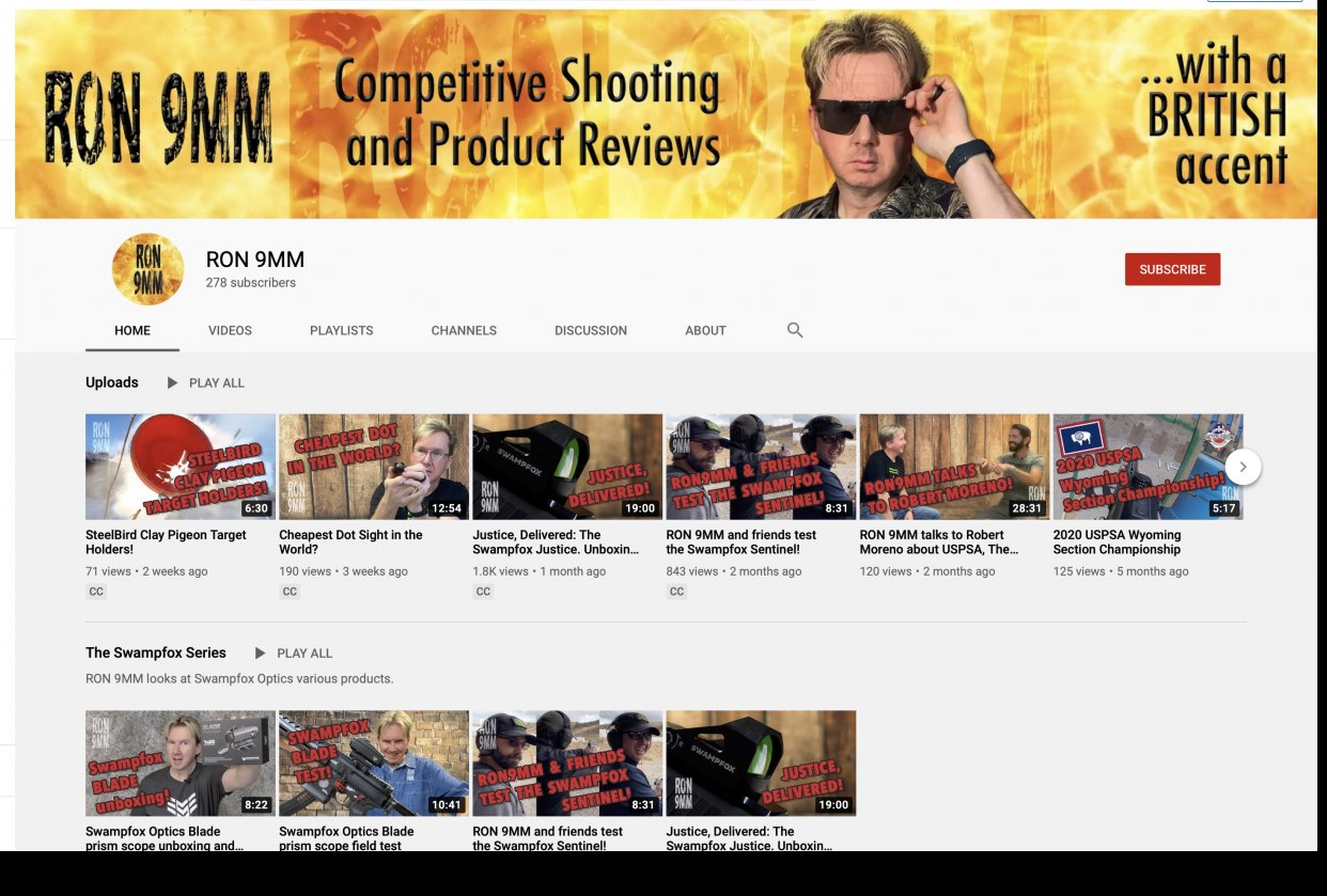 RON 9MM: Building a YouTube Channel - student project