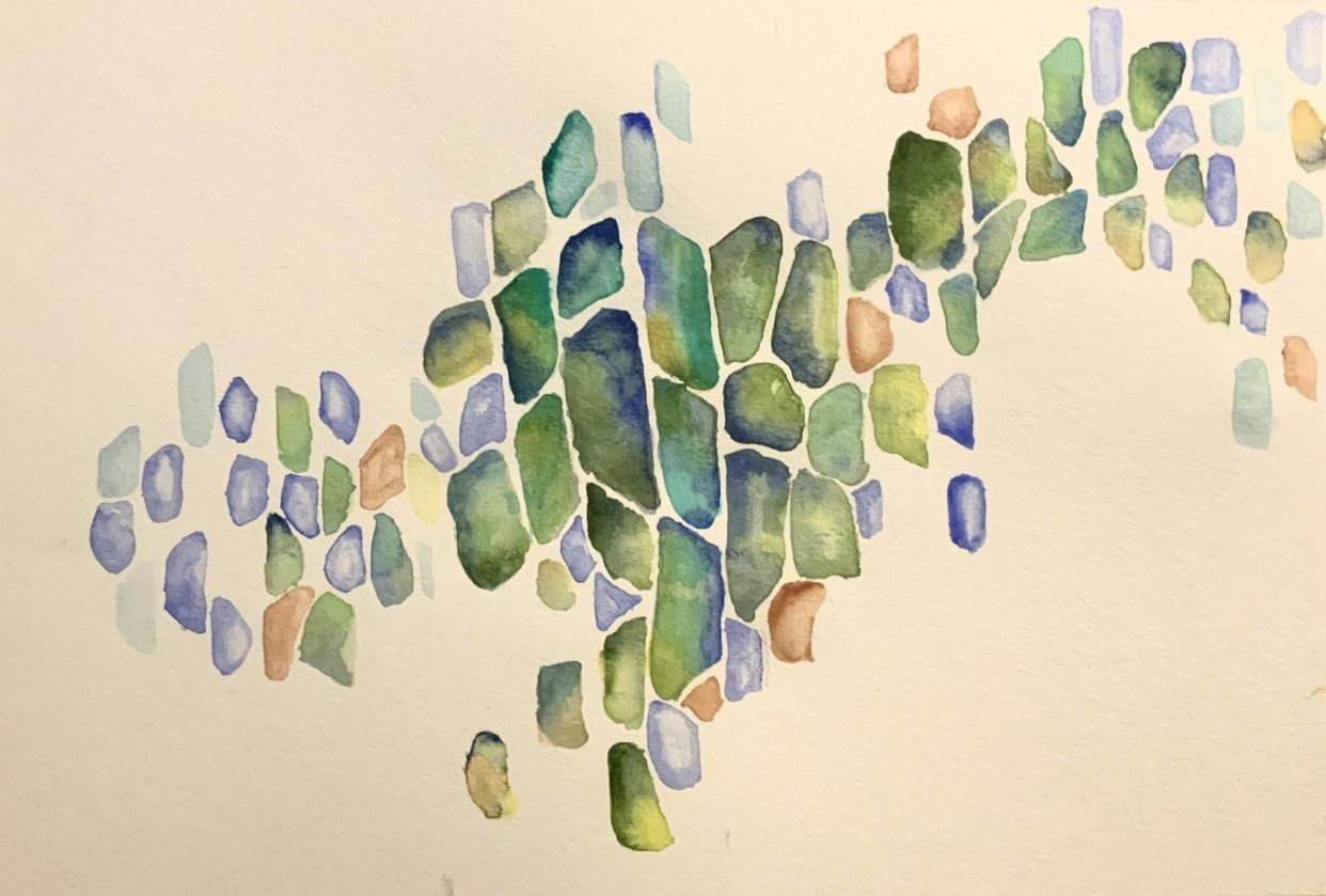 Abstract watercolor 1 - student project