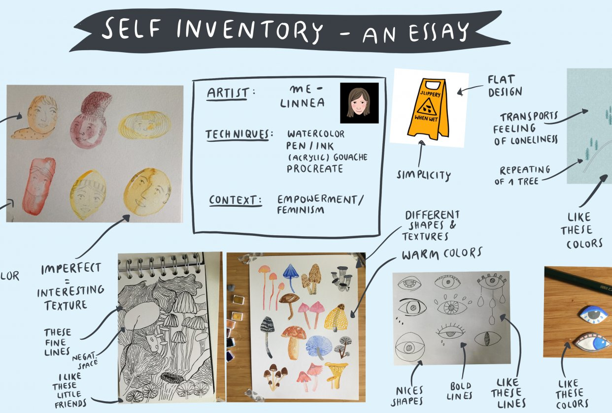 Inspiration Case Studies | Self Inventory – An Essay | tbc - student project