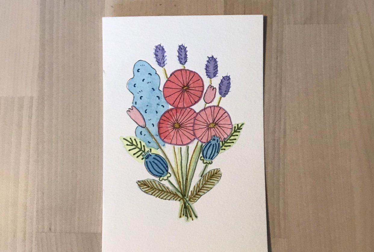 Brush Pen Florals! - student project