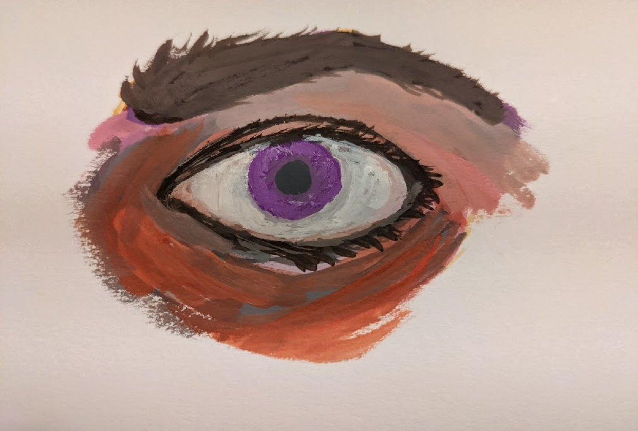 First gouache project - The eye - student project