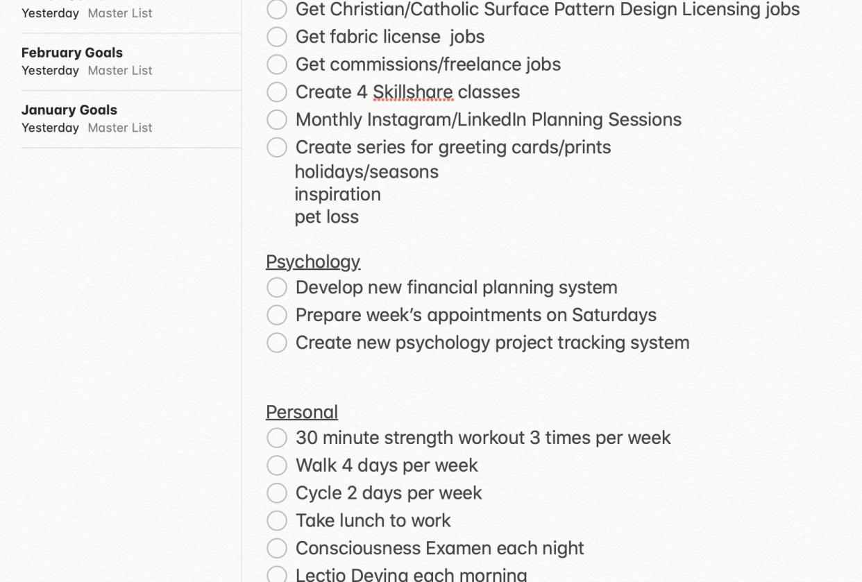 Big Picture Planning - student project