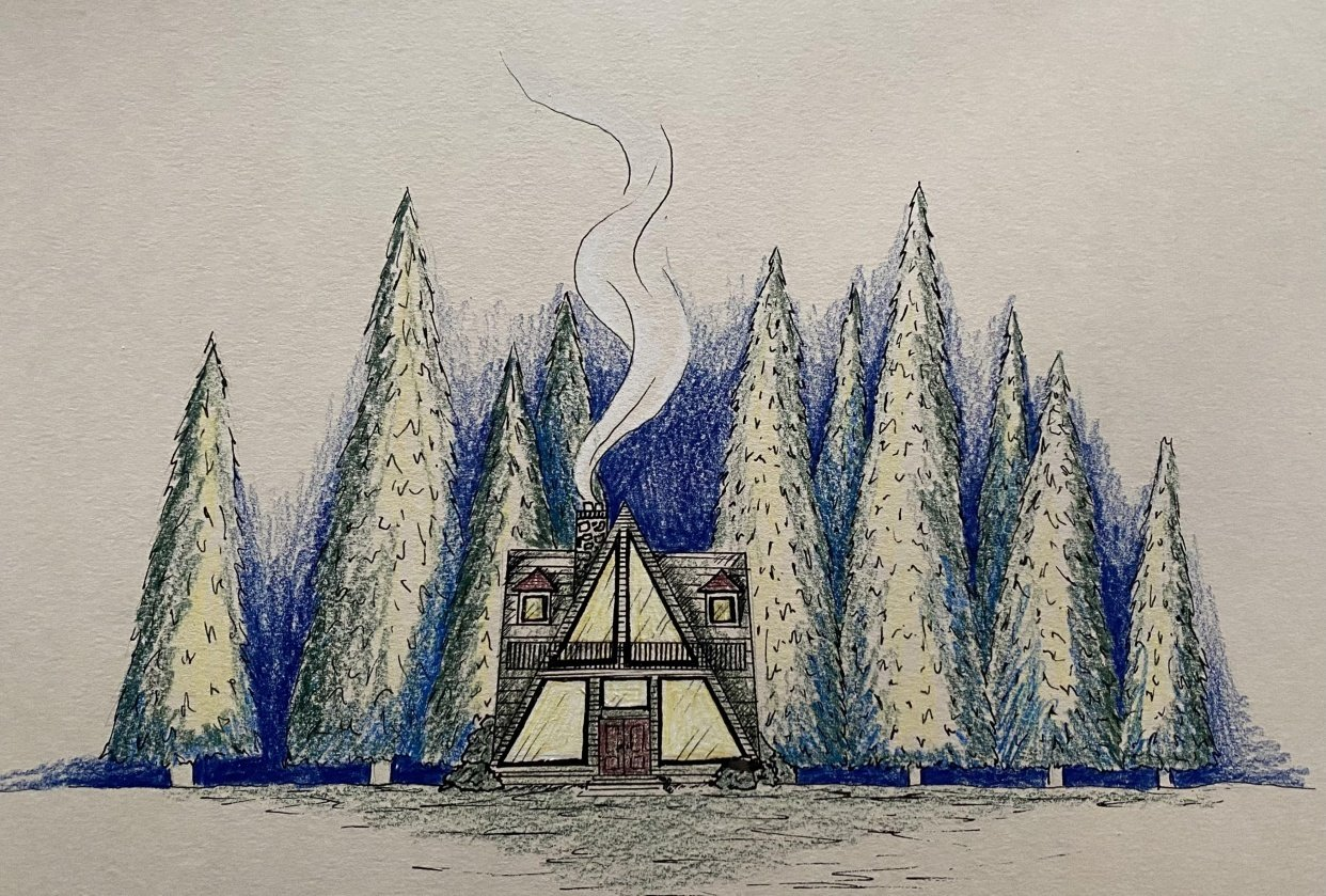 A Frame Log Cabin - student project