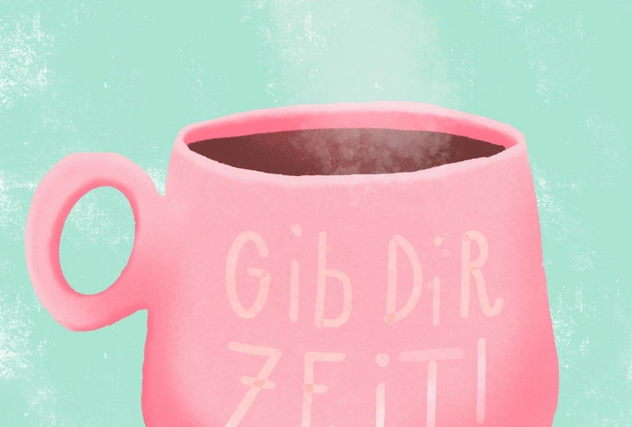 Coffee Mug Made with Procreate Pocket - student project
