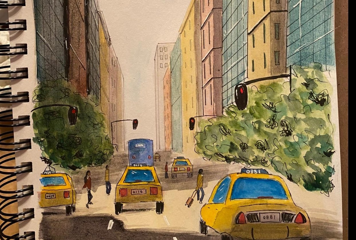 NY One point perspective - student project