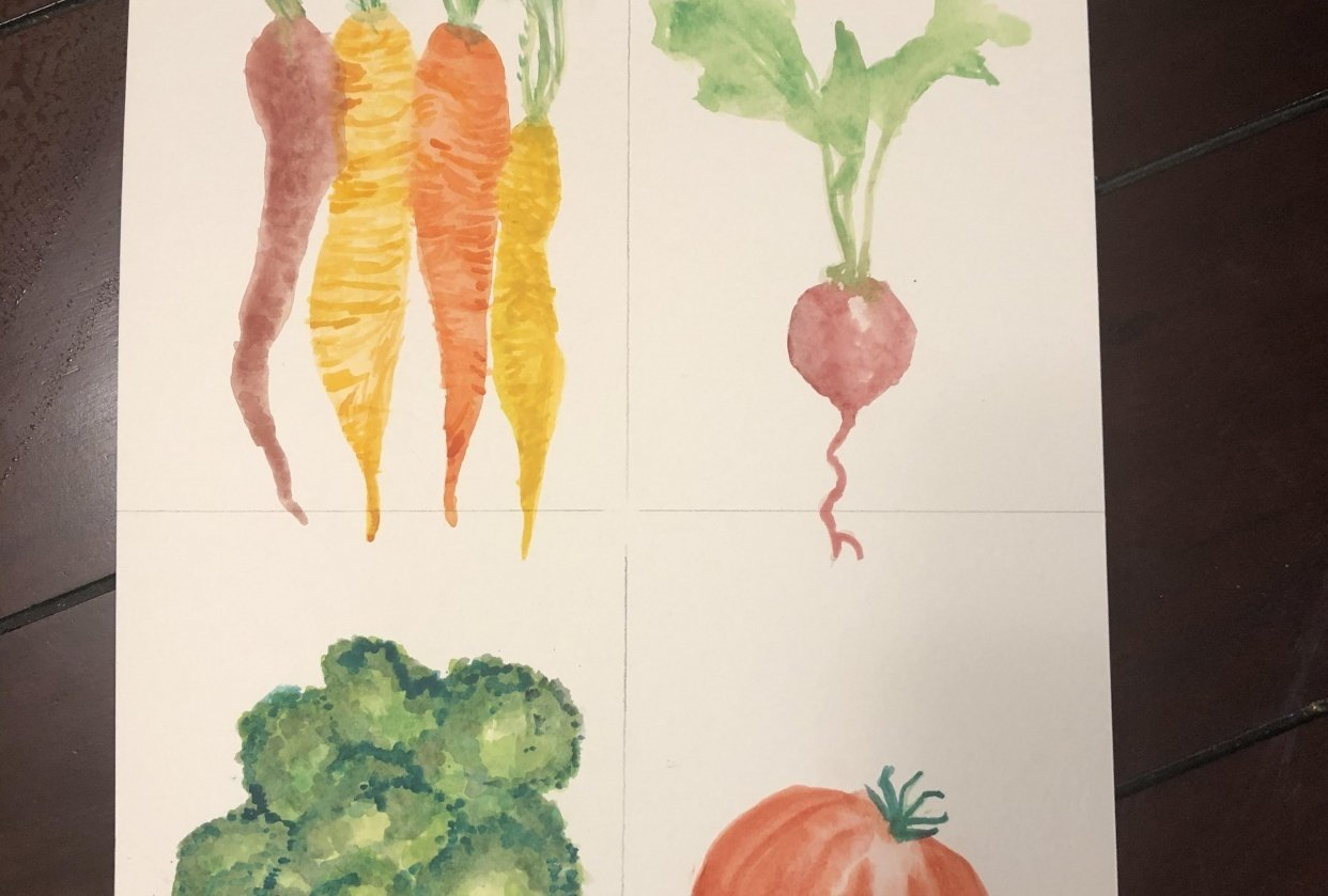 A's veg on one paper - student project