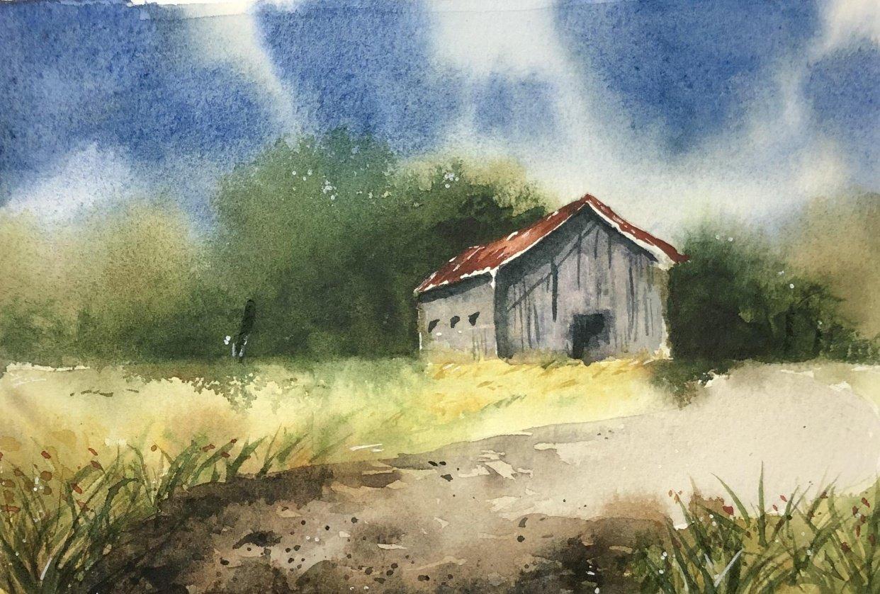 Landscape Study - Watercolor Journal - student project