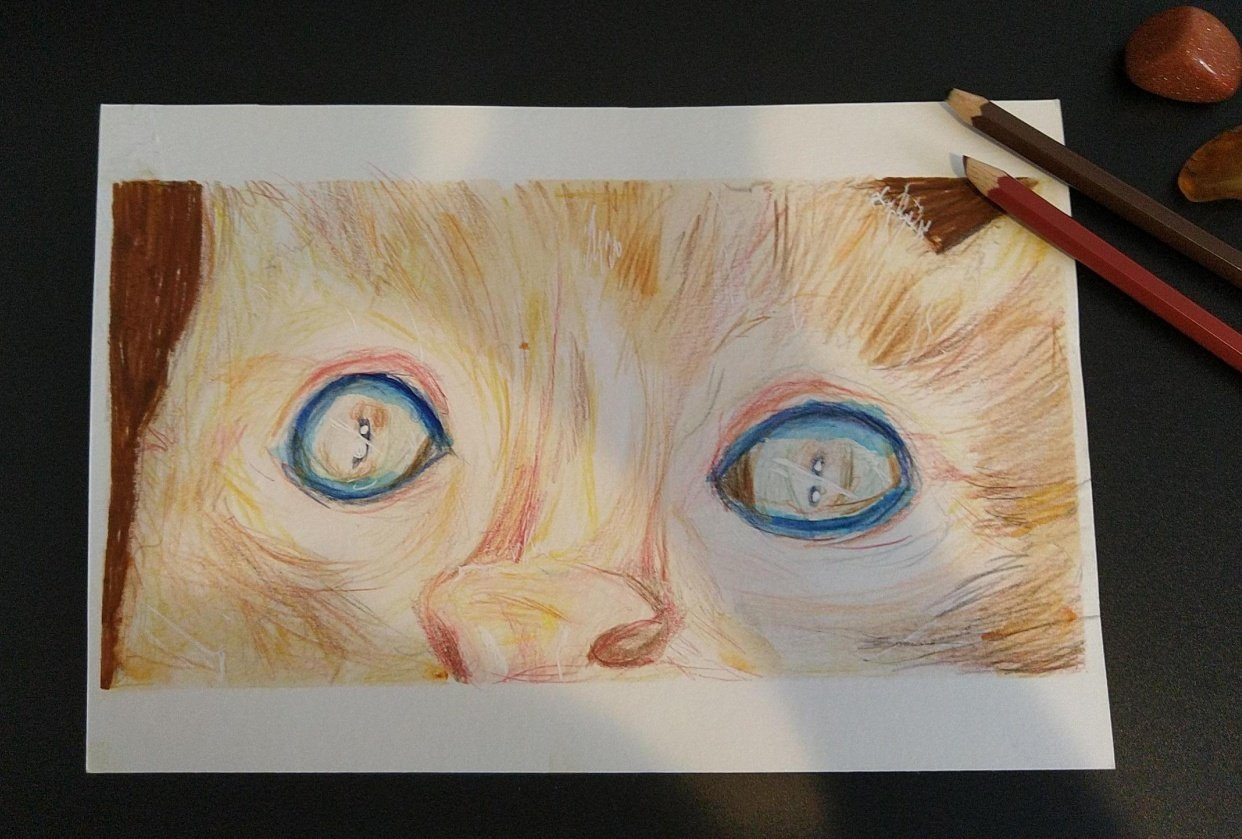 Colored Pencil Drawing Technique: Blending with Solvent - student project