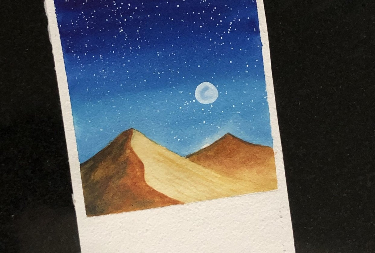 Fun and easy water color galaxies by Zaneena - student project