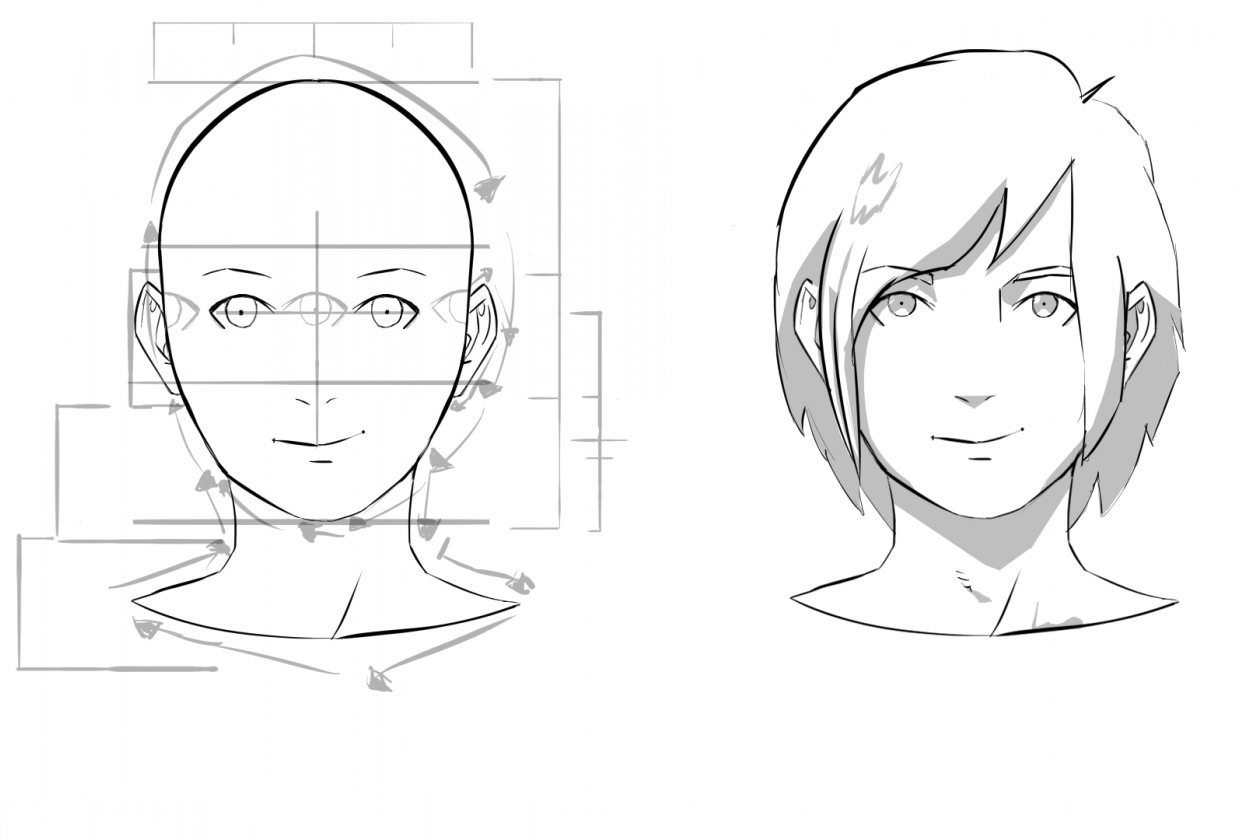 My Anime Character Portraits - student project