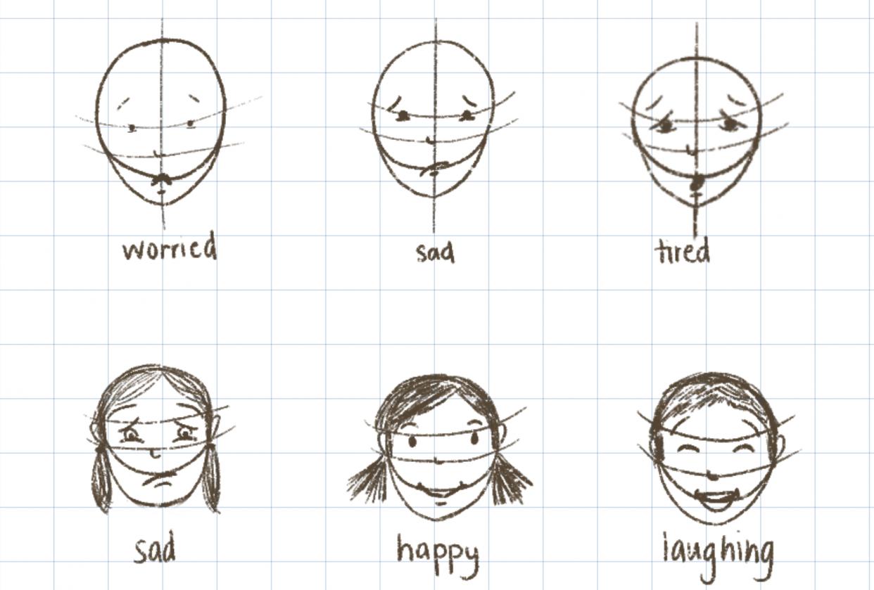 Children's faces - student project