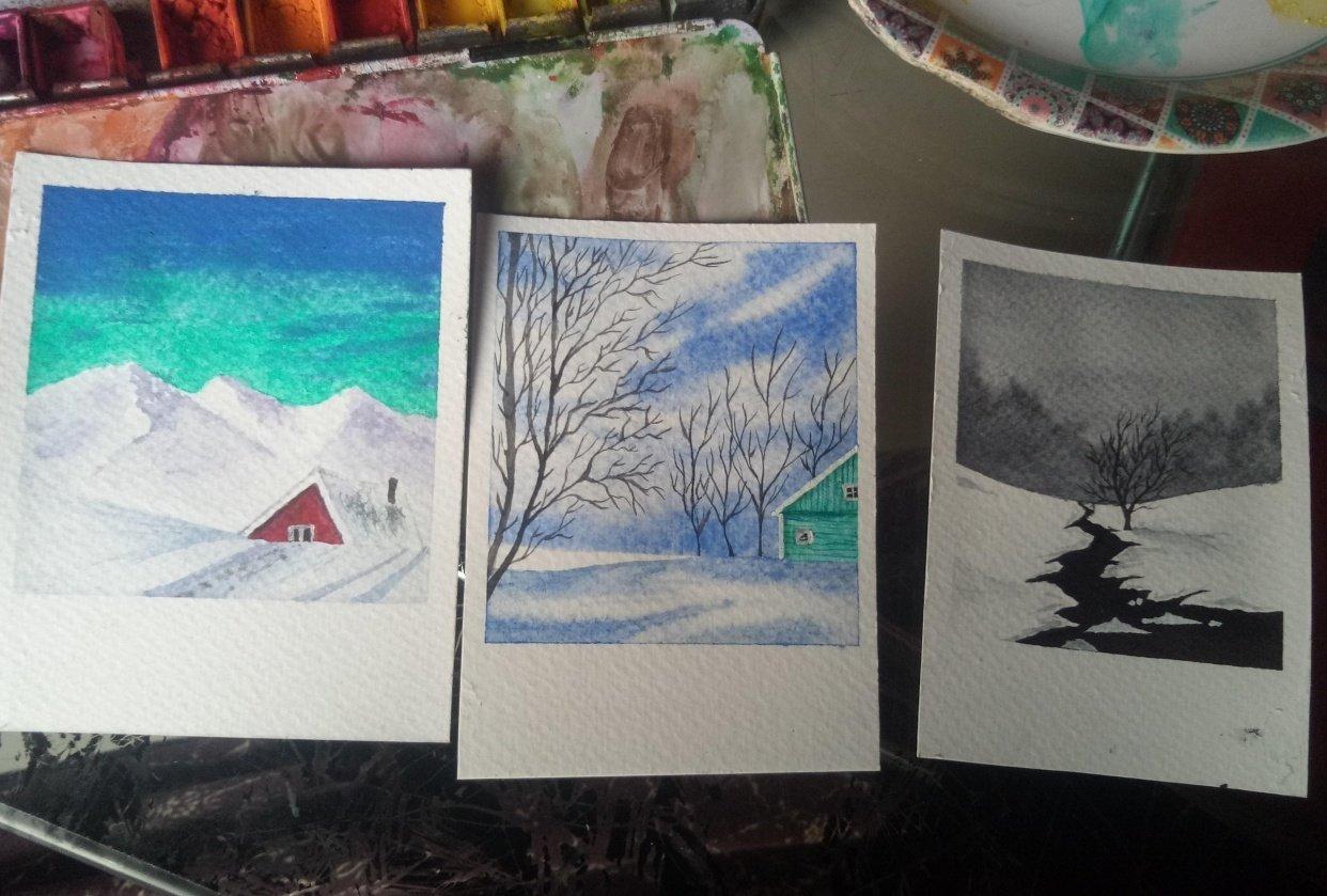 Delicate wintery scenes - student project