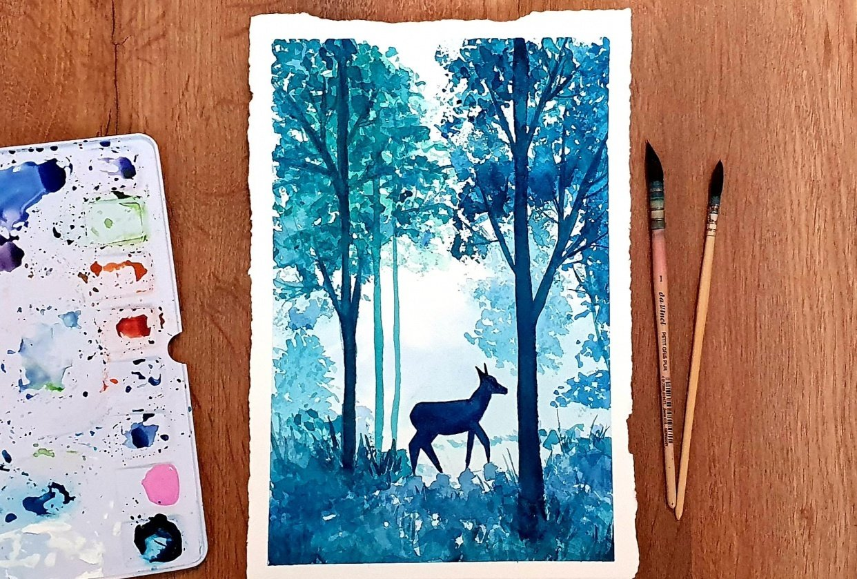 Forest and Deer - student project