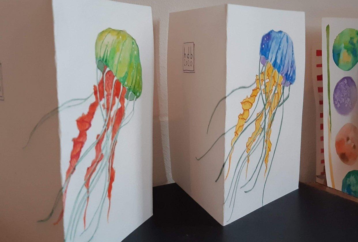jellyfish postcards - student project