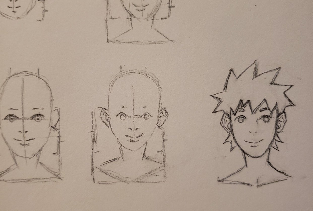 How to draw face practice - student project