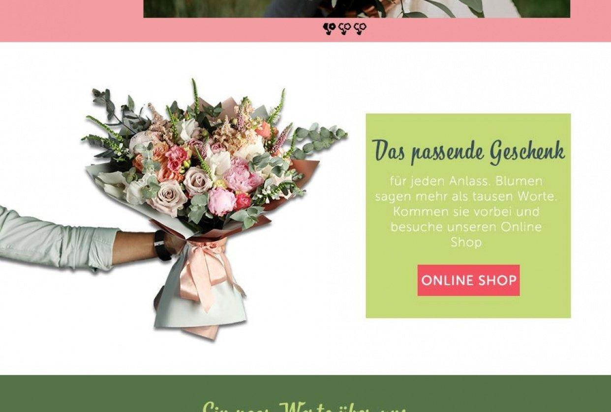 Website Flowershop - student project