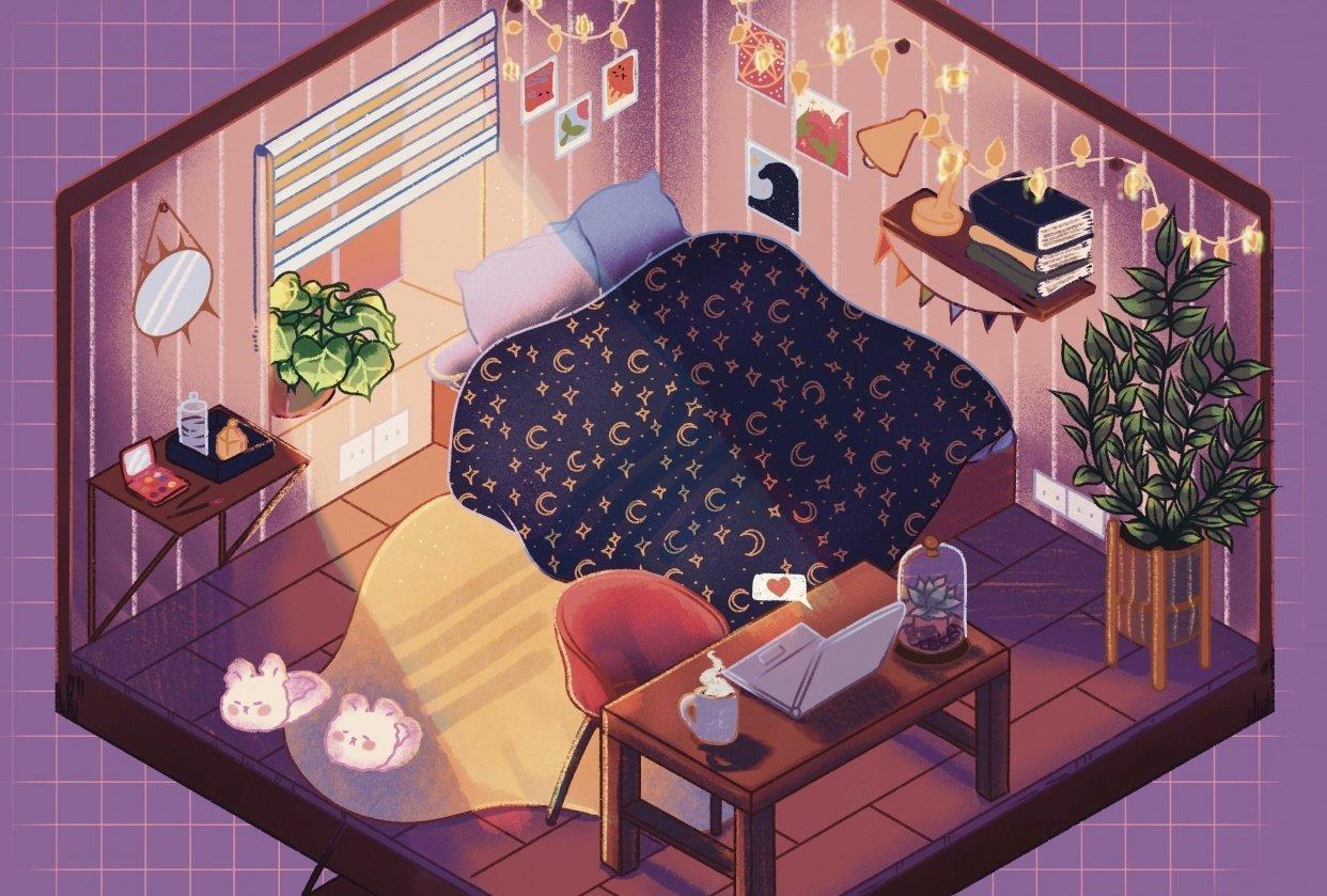 Isometric bedroom - student project