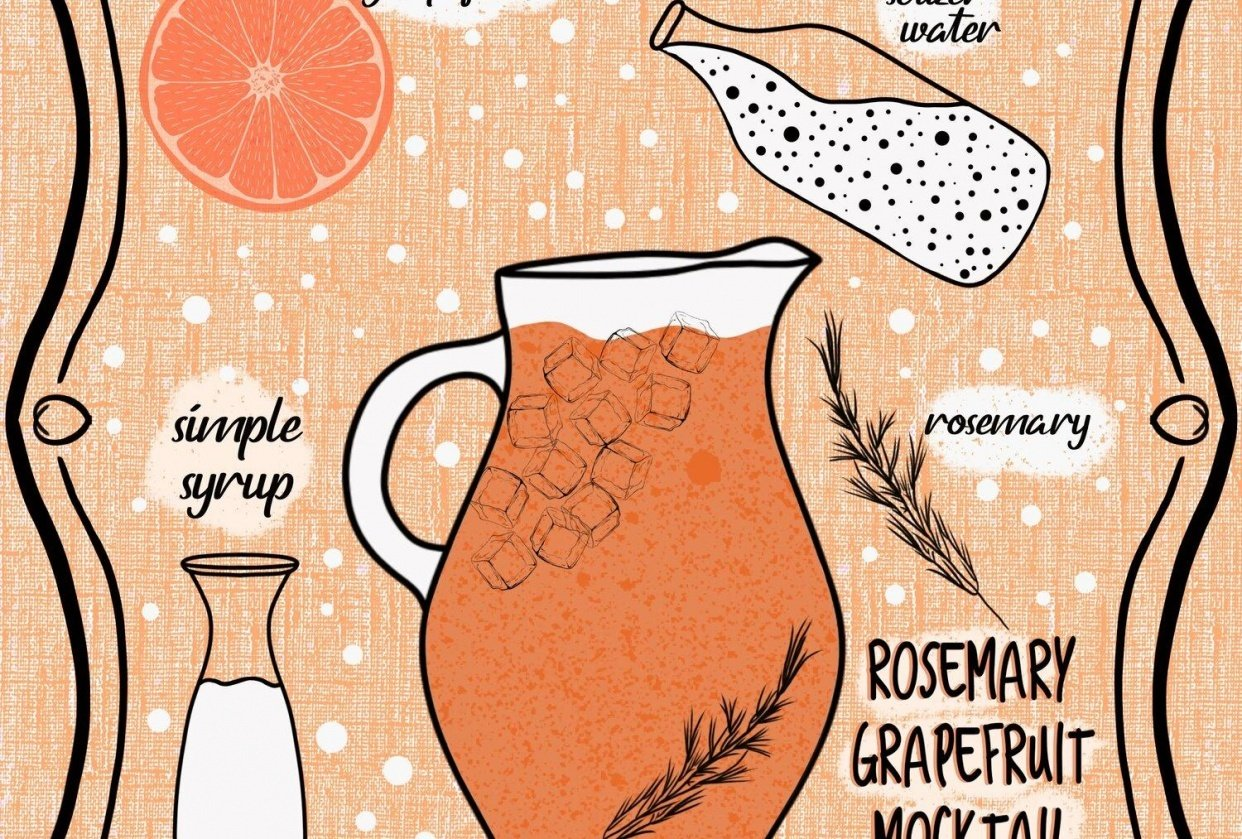 Rosemary Grapefruit Mocktail - student project