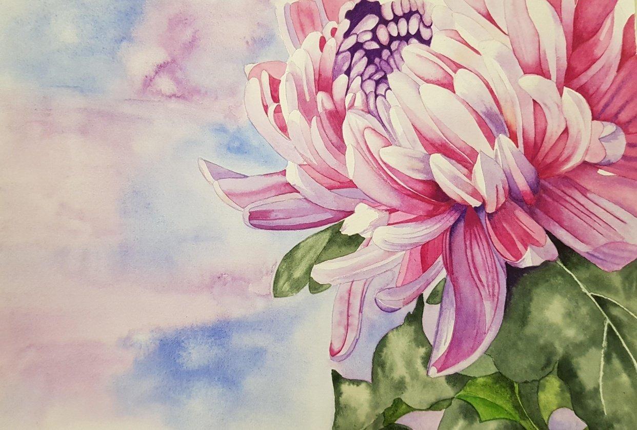 Chrysanthemum Painting - student project