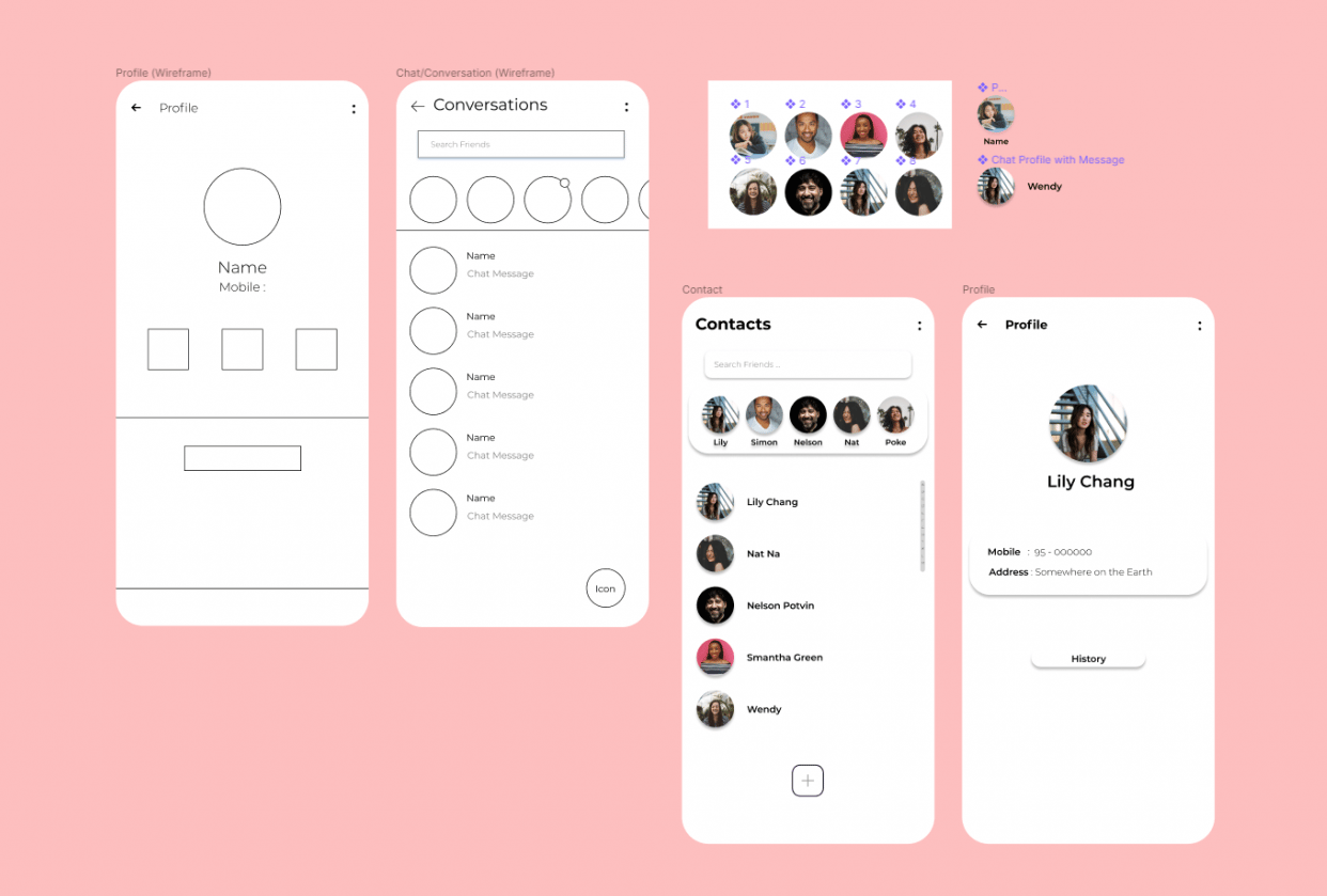 Learning Figma - Contact Component - student project