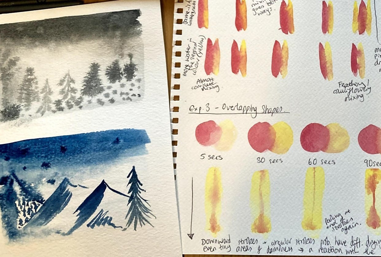 Watercolour Experiments - student project