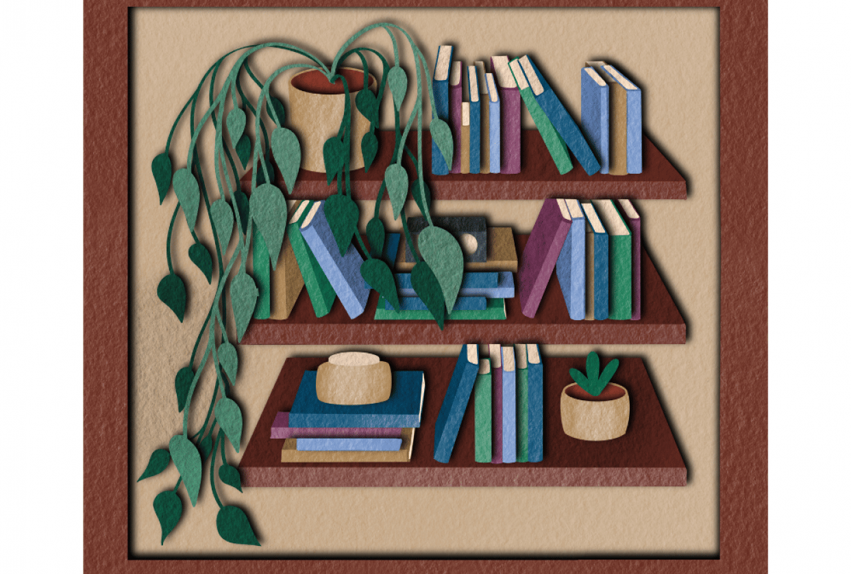 Bookshelf Perspective Practice - student project