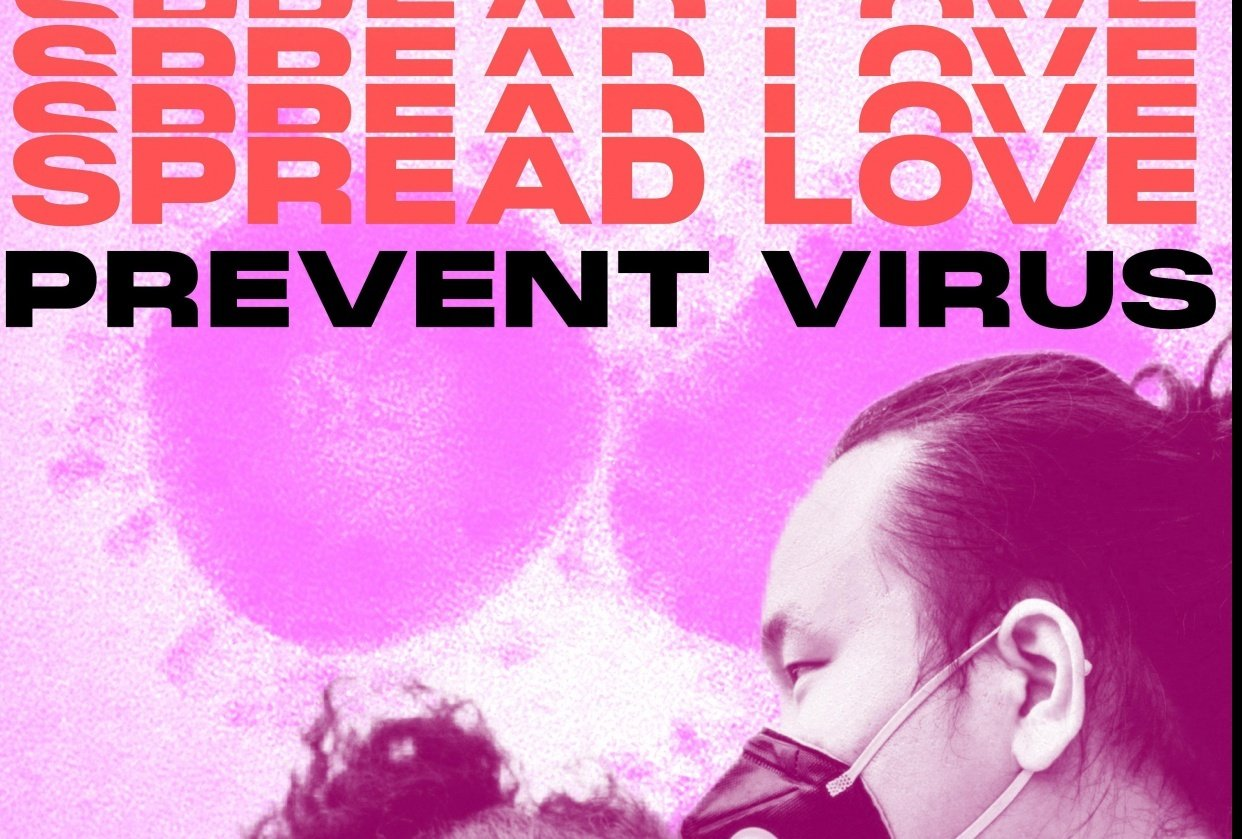 Spread Love Prevent Virus Posters - student project
