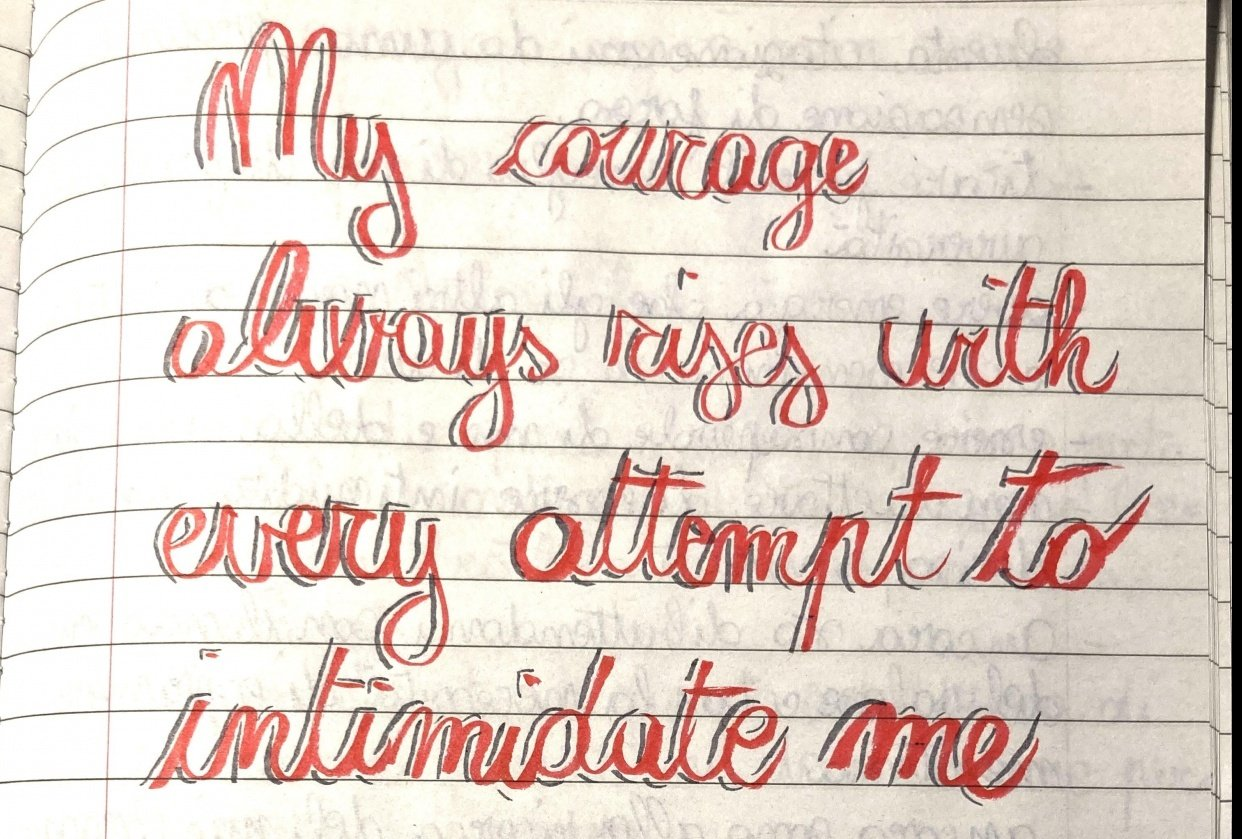 The courage to write - student project