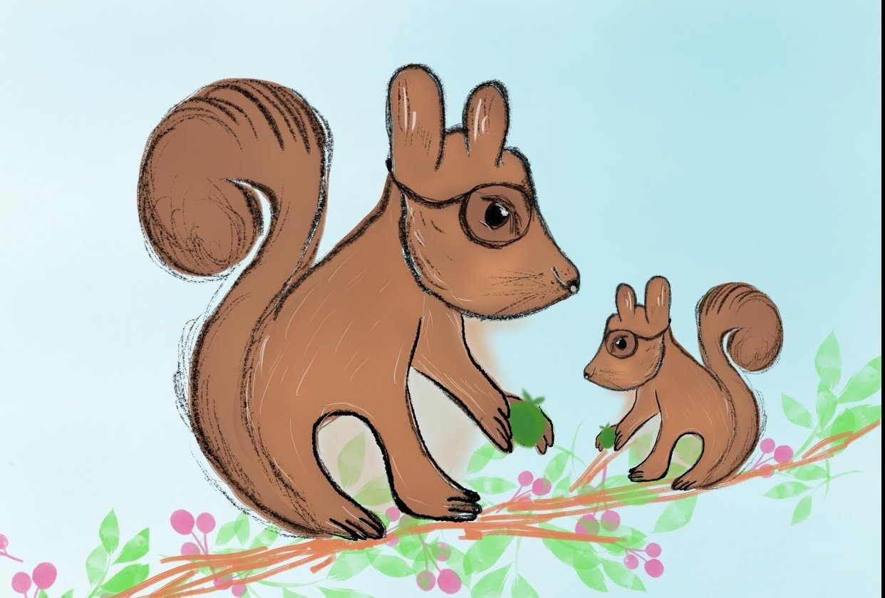 cute squirrels - student project