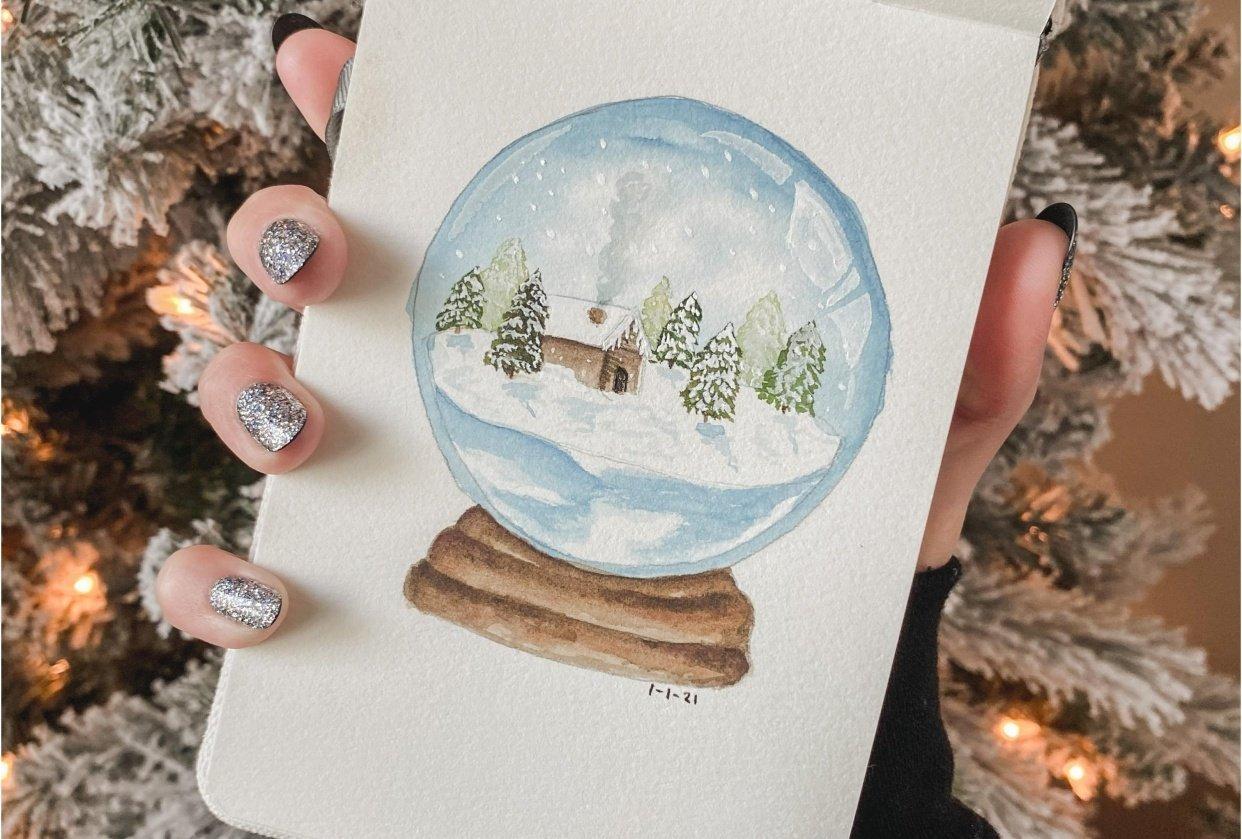 Snow globe cabin - student project