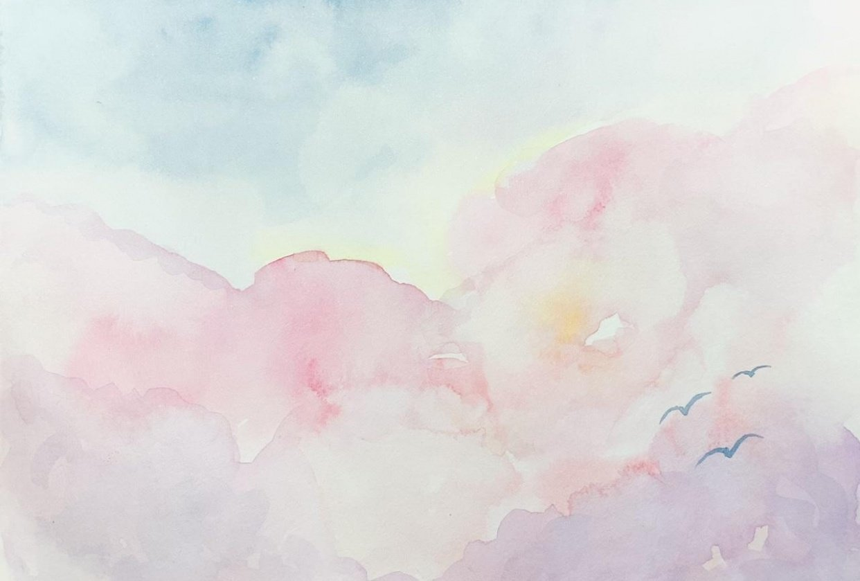 Cotten candy clouds - student project