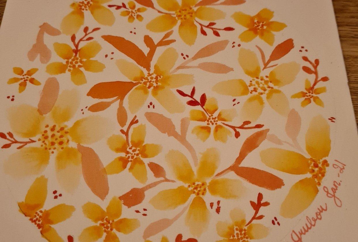 Five petal flower - student project