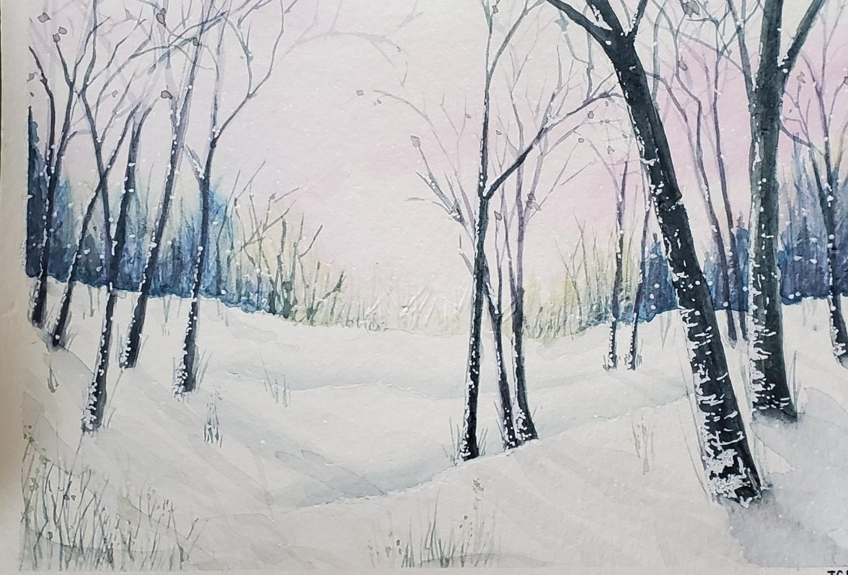 Wintery Landscape - student project