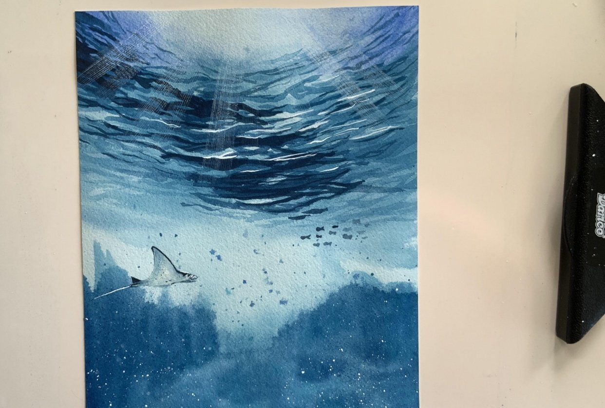 Watercolor Underwater - student project