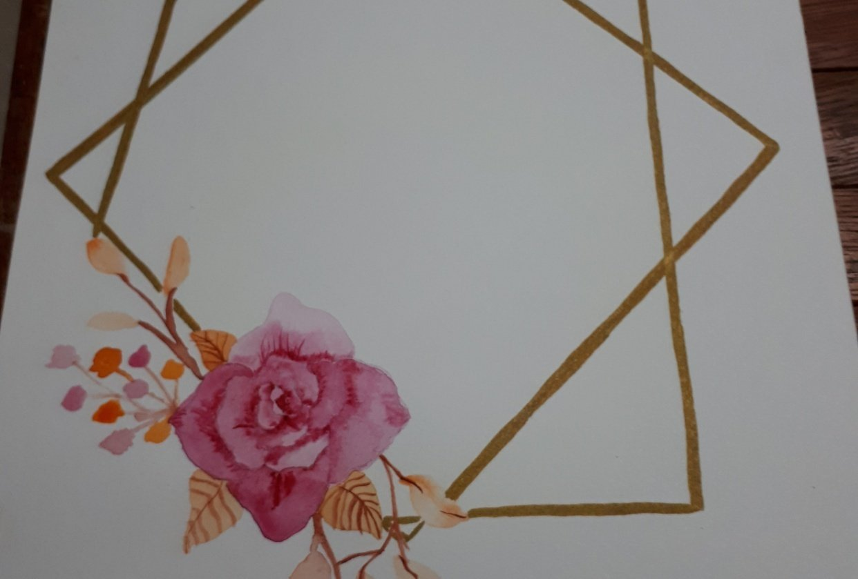 Geometrical Flower Wreath Trial - student project