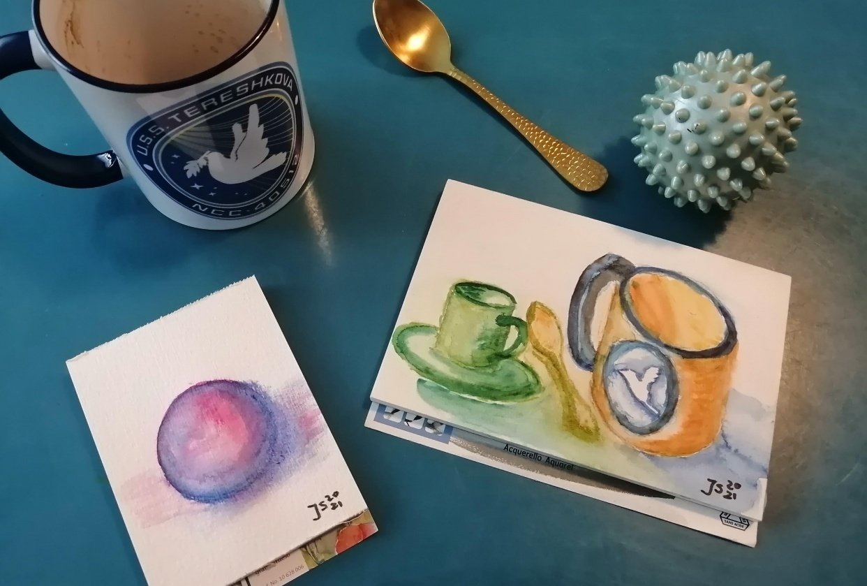 Painting with Watercolormarkers - student project