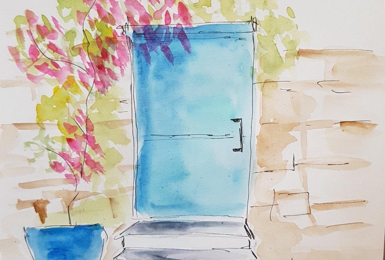 sketching door - student project