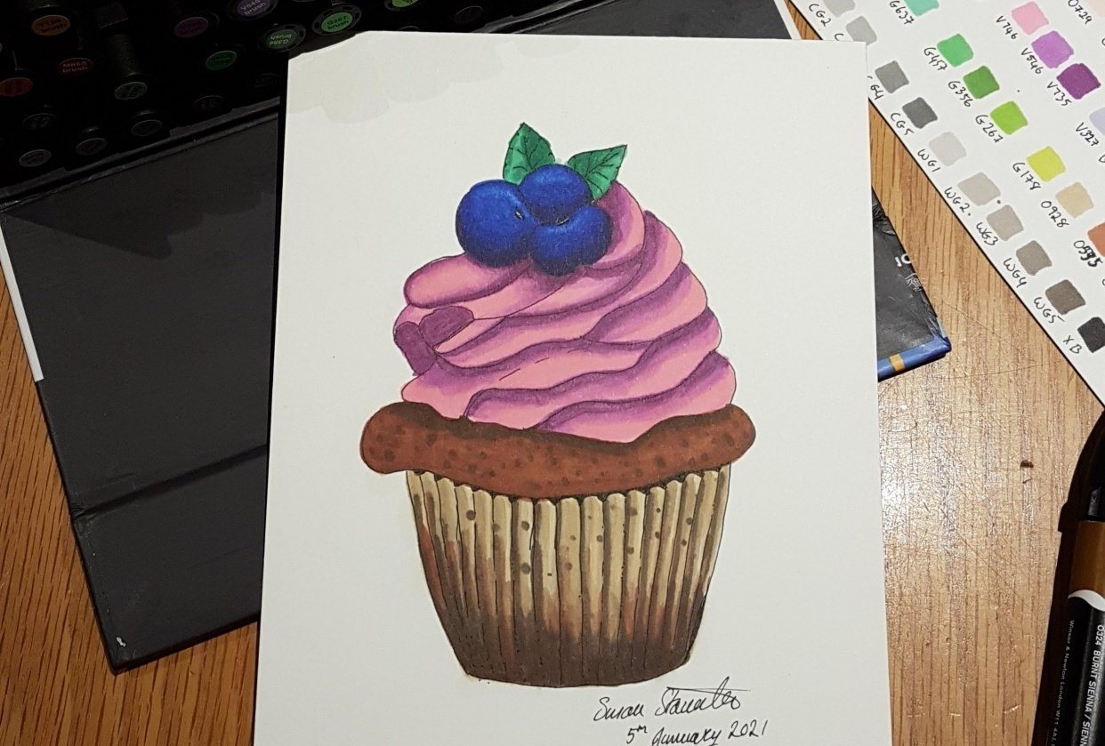 Blueberry Cupcake - student project