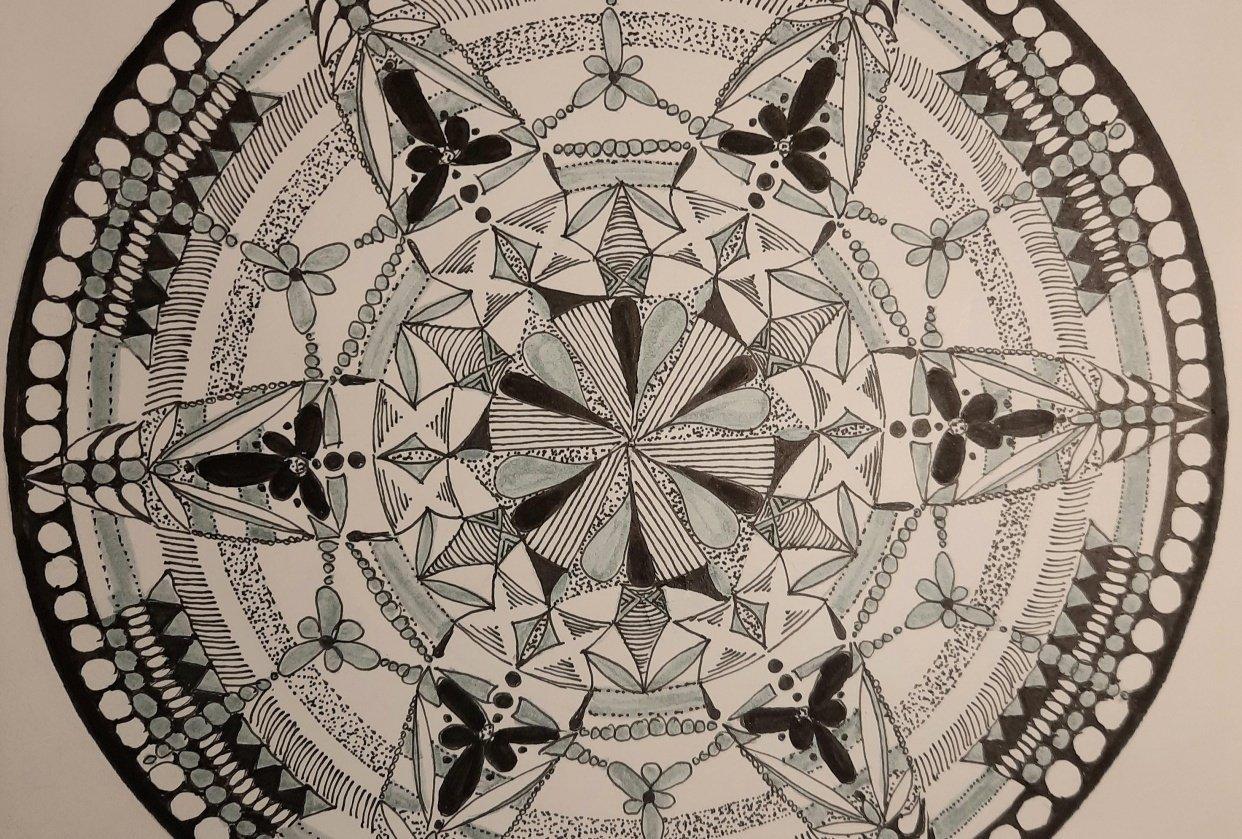 Hand drawn mandala - student project