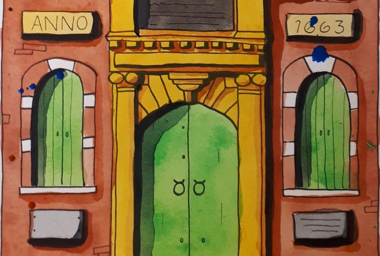 Urban Sketching - Uptown Waterloo - student project
