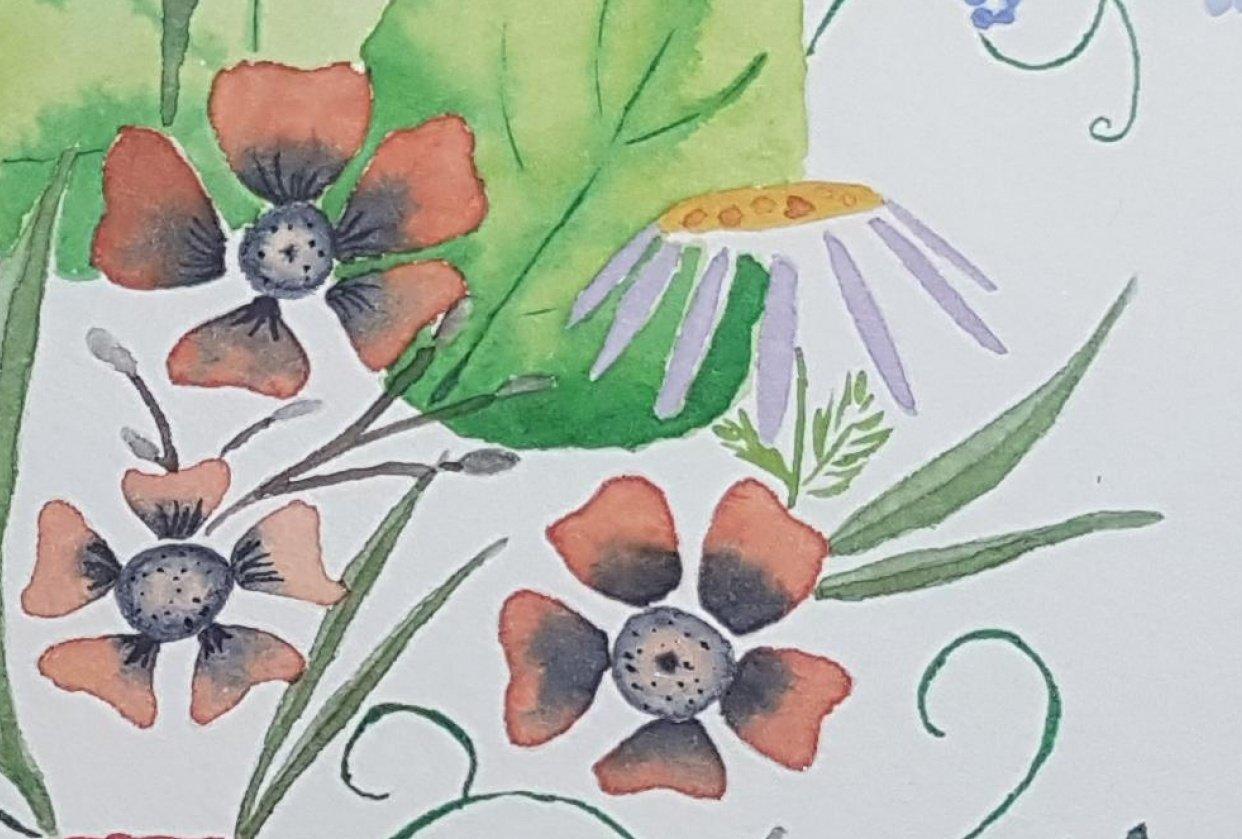 Expressive Florals - student project