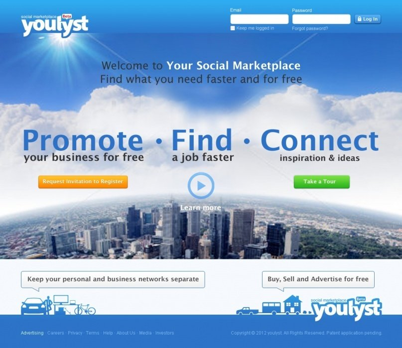 Youlyst.com Your Social Marketplace - student project